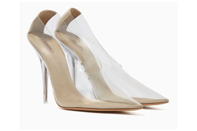 Yeezy - Transparent PVC Point-Toe Pumps